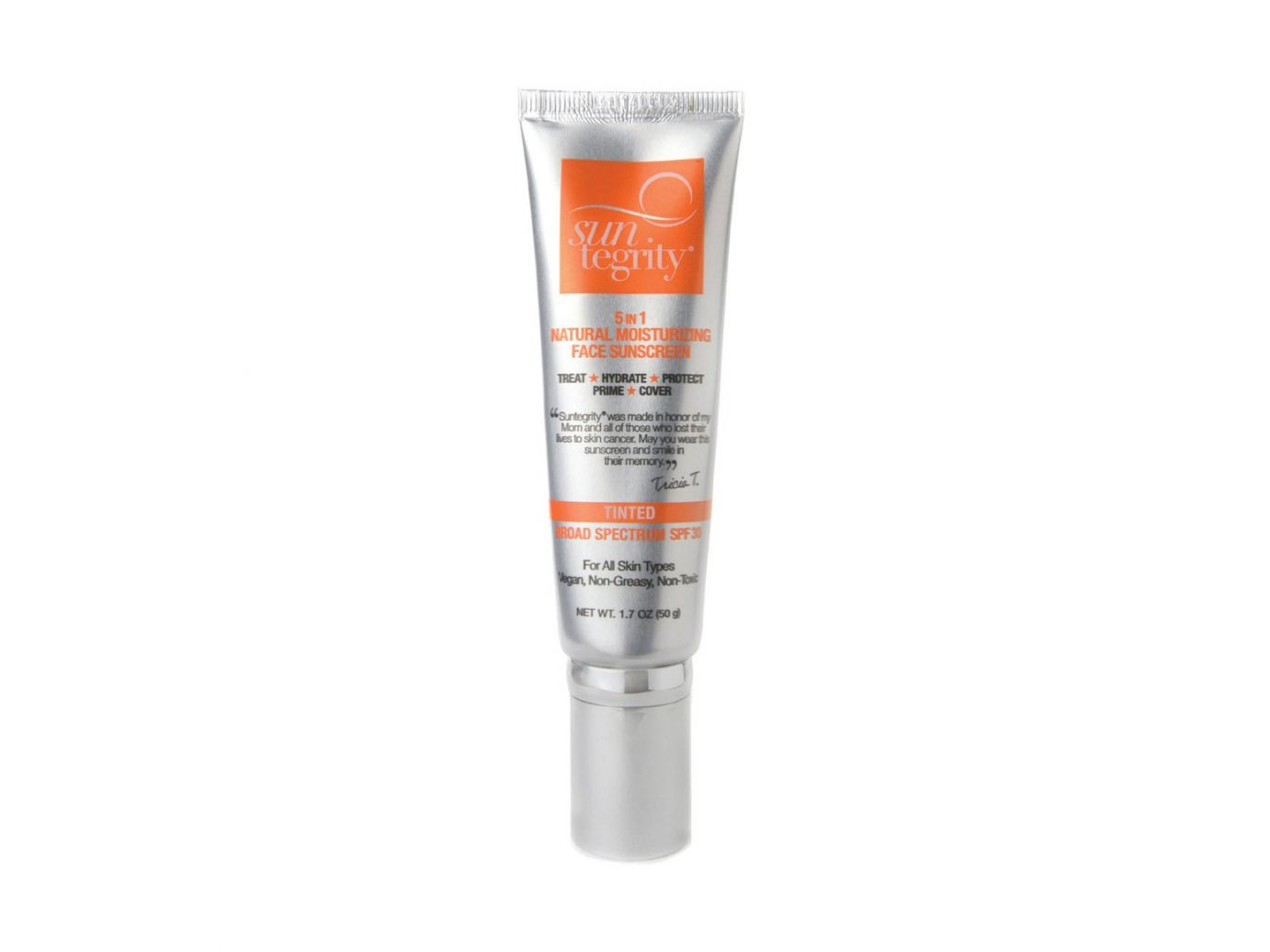 Suntegrity Skincare 5 in 1 Natural Moisturizing Face Sunscreen SPF 30