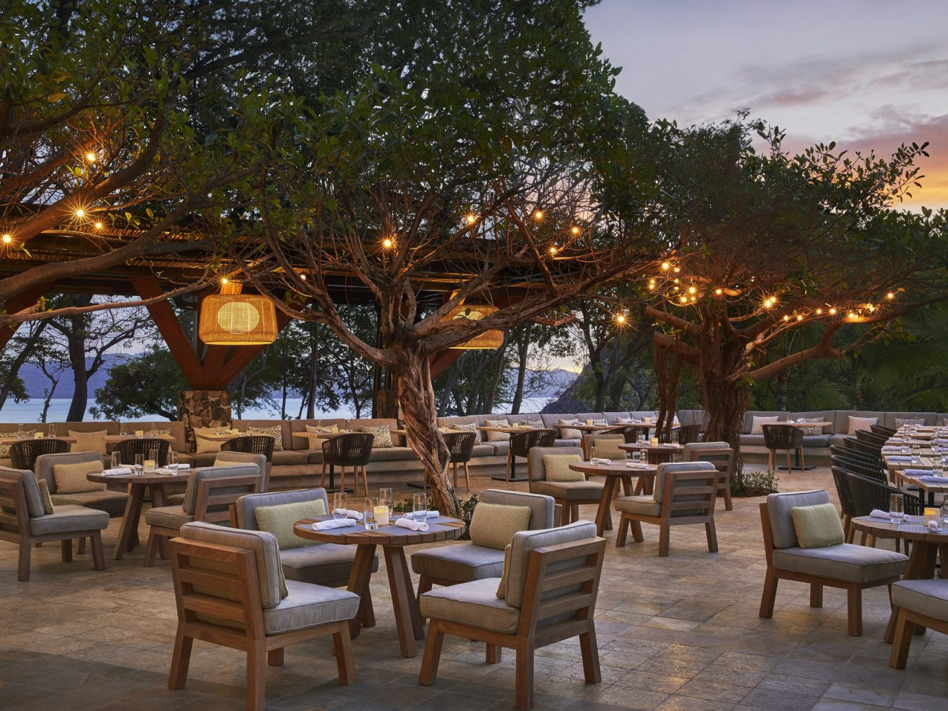 Outdoor dining at the Four Seasons Costa Rica