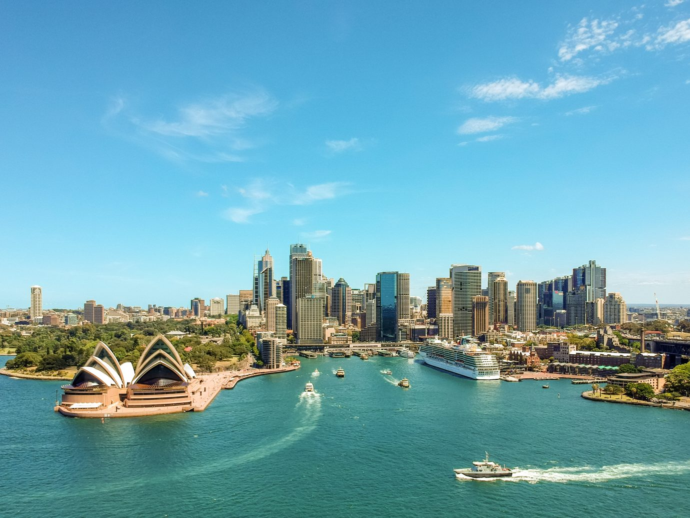 view of the Sydney Harbour with the Opera House