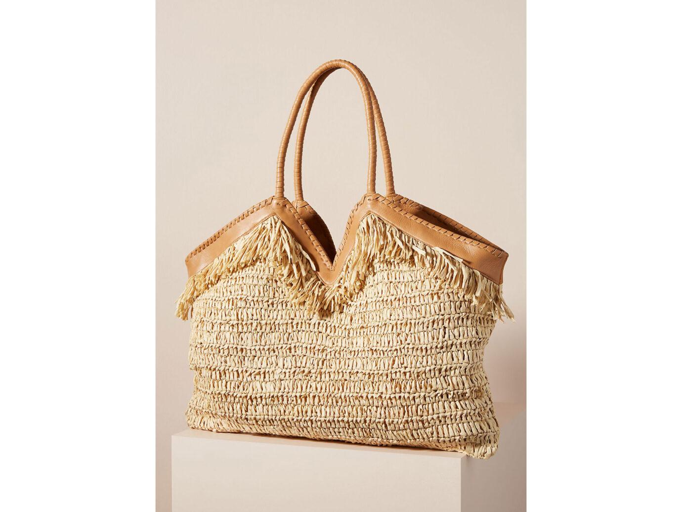 Anthropologie straw beach bag