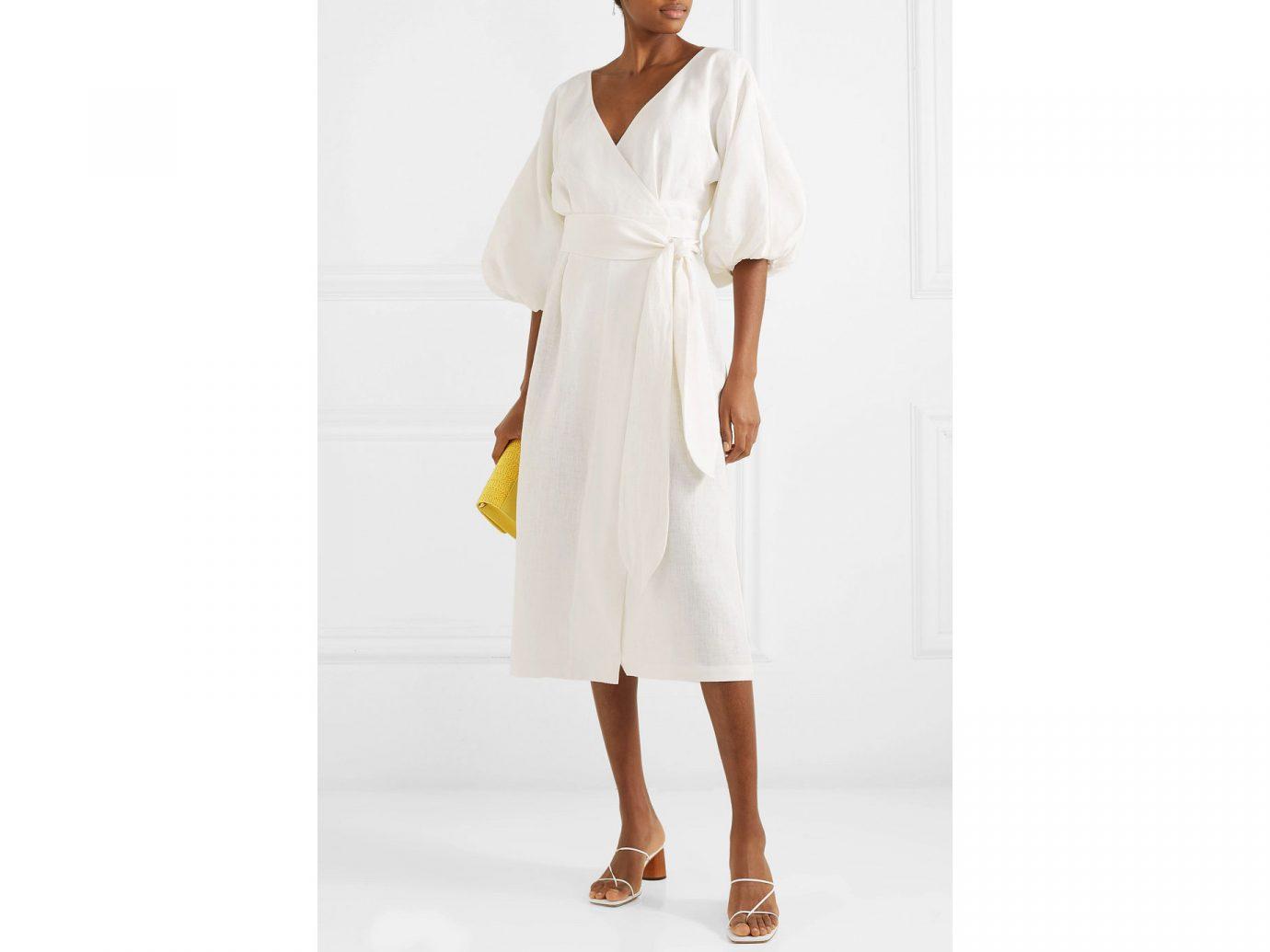 Dress: Mara Hoffman + Net Sustain Francesca hemp wrap dress