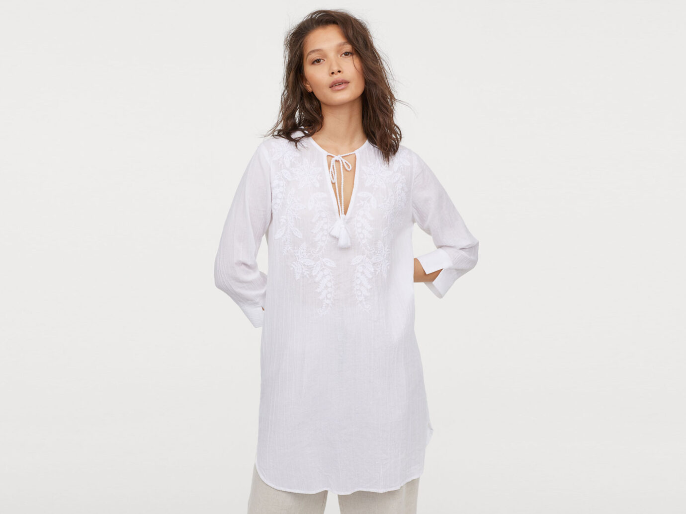 Cover up Tunic with Embroidery