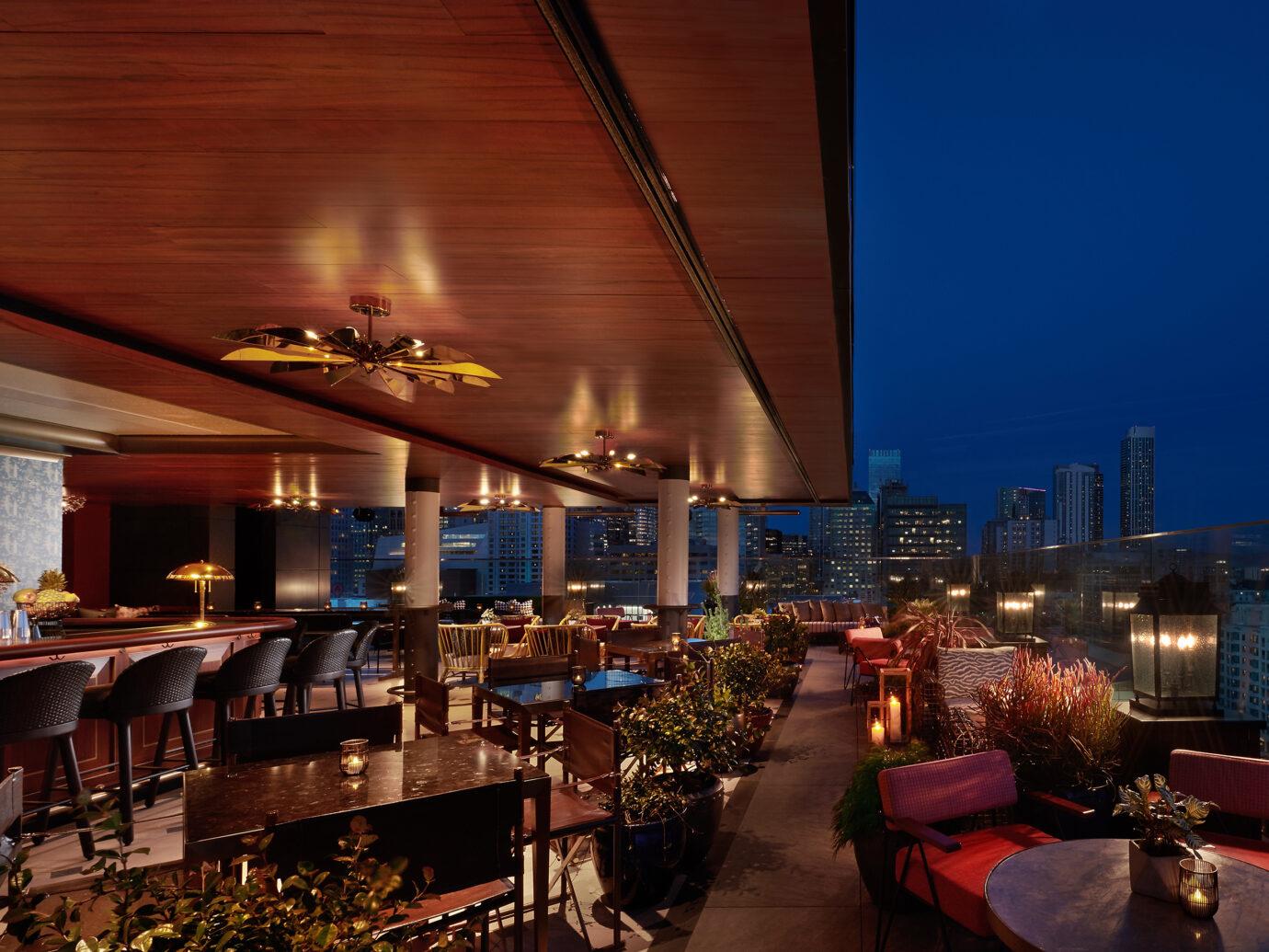 Everdeen rooftop bar at the Virgin Hotel in San Francisco