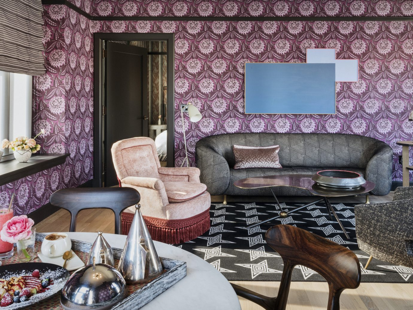 Living room at San Francisco Proper Hotel