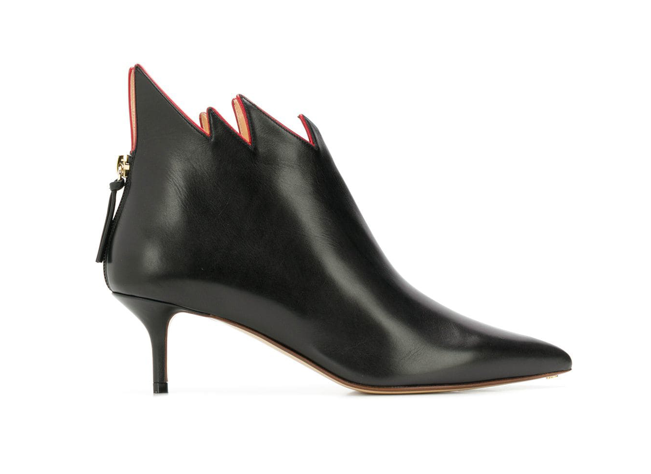 Francesco Russo stiletto flame ankle boots