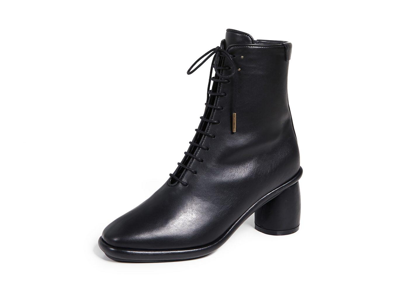 Reike Nen Plain Middle Lace-up Boot
