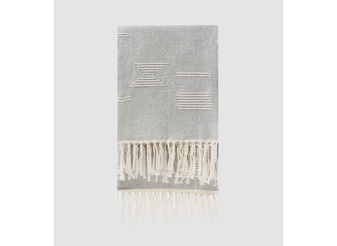 MINNA Shapes Towel in Grey