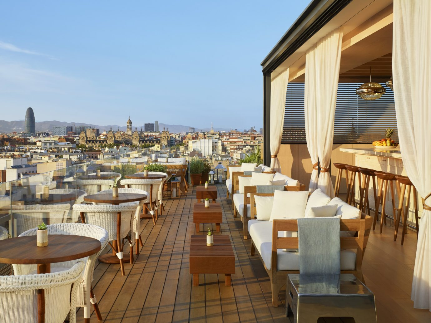 Outdoor dining at the Barcelona Edition