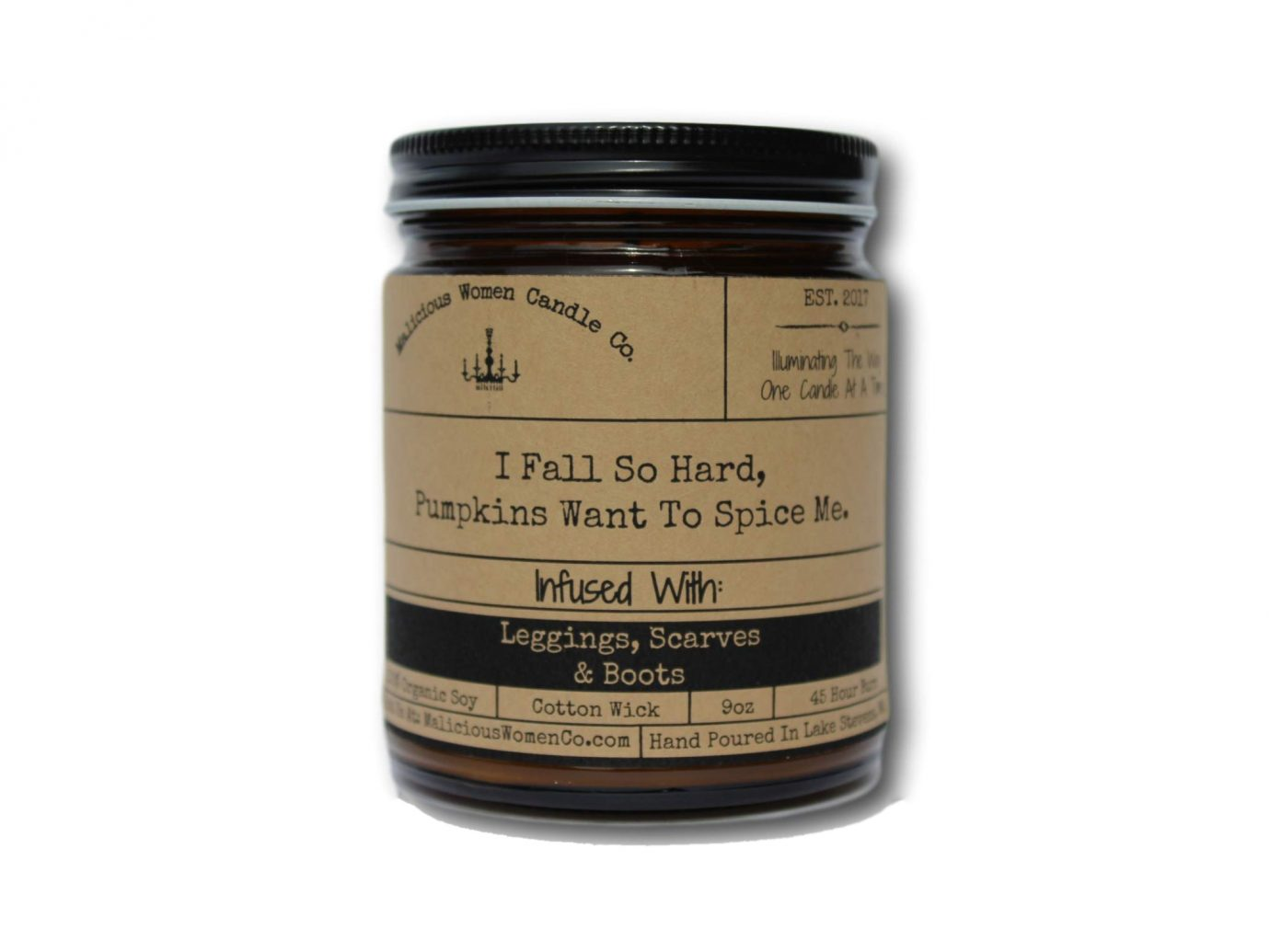 Malicious Women Candle Co - I Fall So Hard, Pumpkins Want to Spice Me Candle