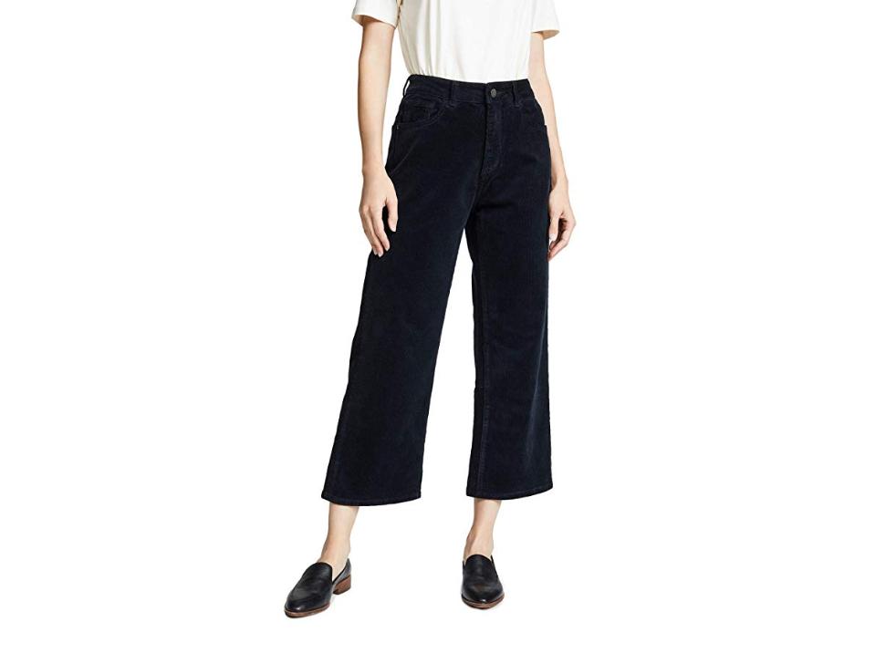 DL1961 Women's Hepburn High Rise Corduroy Wide Leg Pants