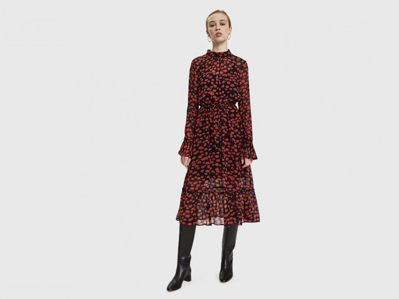 Just Female Poppy Floral Georgette Dress