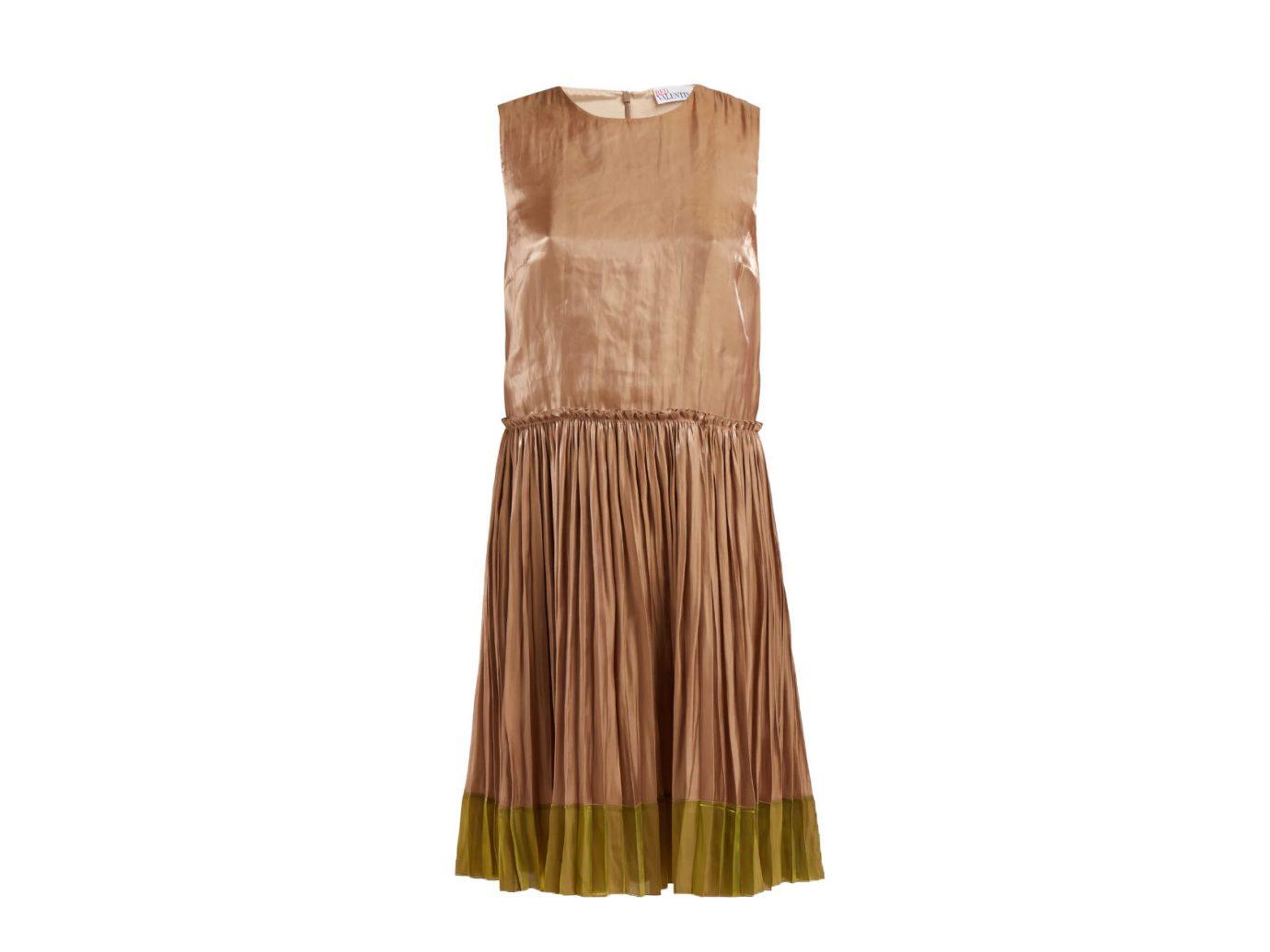 RedValentino Metallic pleated dress