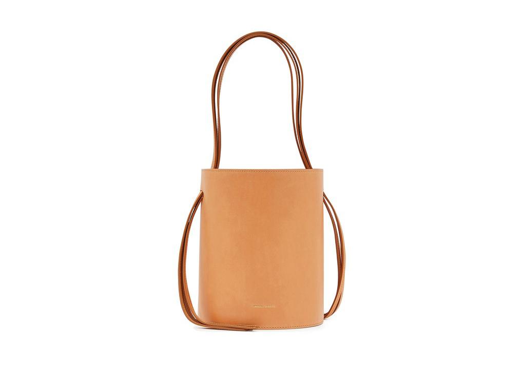 Mansur Gavriel Vegetable-tanned leather fringed bucket bag