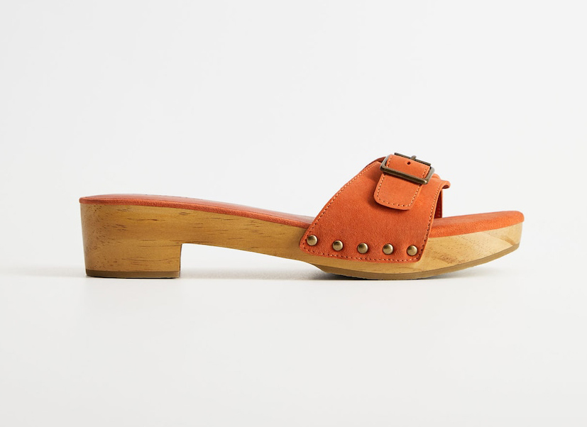 Mango Wooden leather sandals