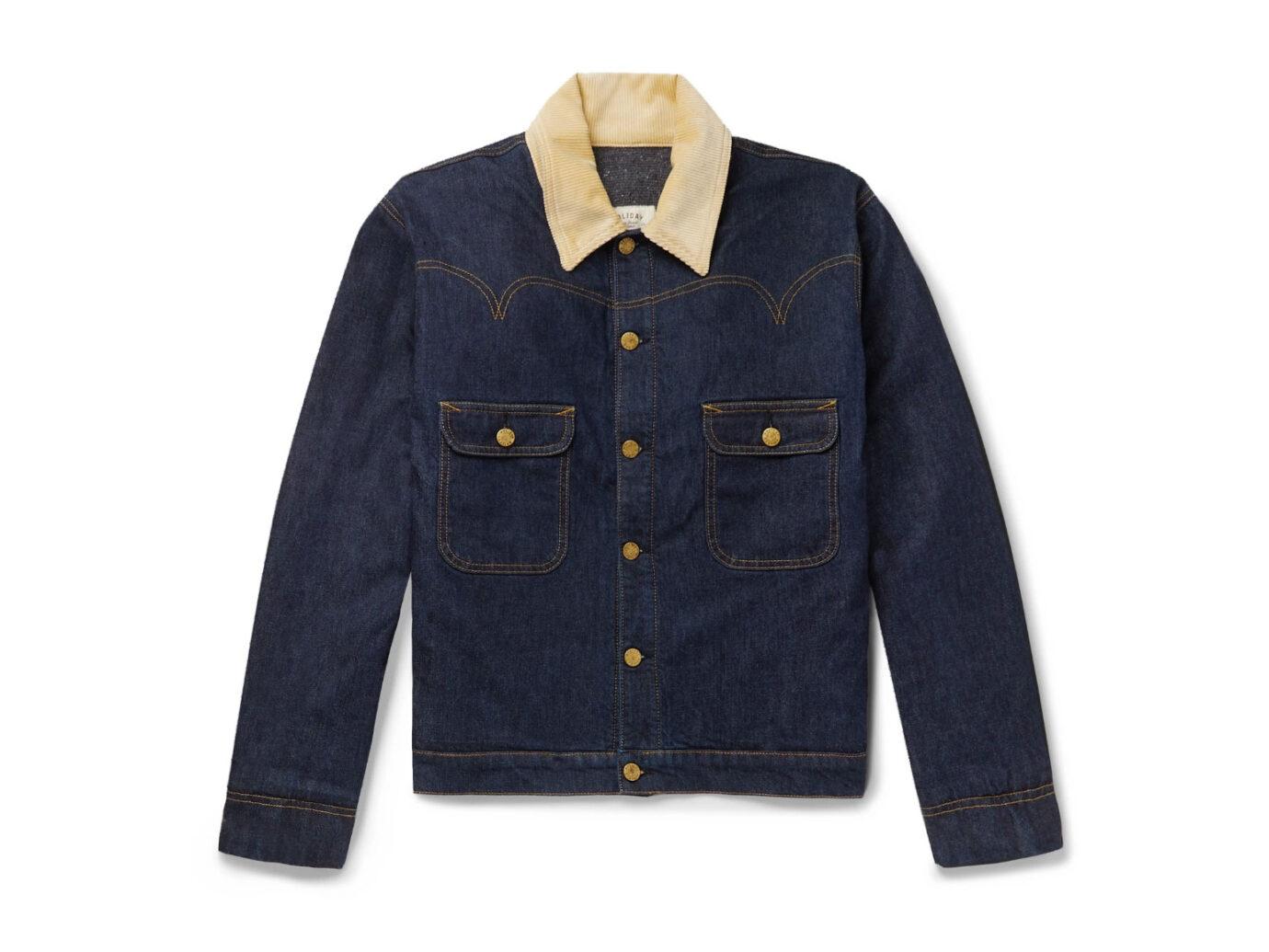 Holiday Boileau Corduroy-Trimmed Denim Jacket