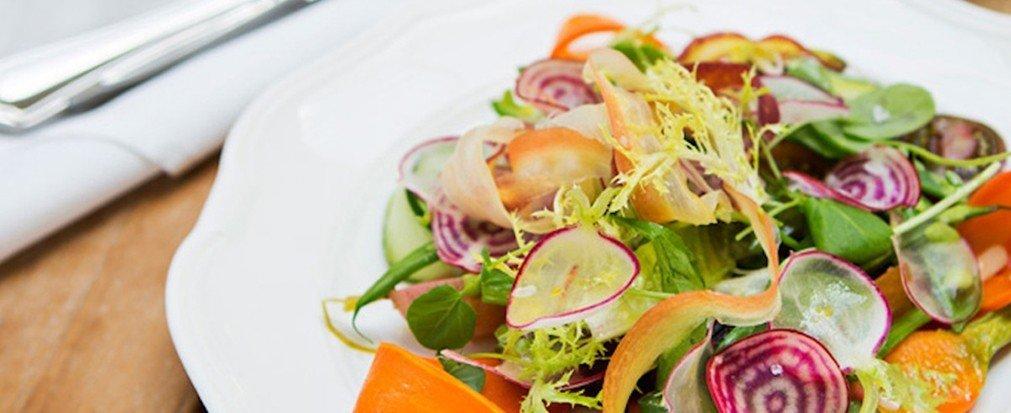 Food + Drink plate food dish salad produce cuisine meal vegetable meat sliced fresh piece de resistance