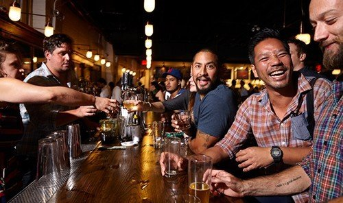 Food + Drink person table indoor man Bar ceiling people bartender meal sense nightclub restaurant