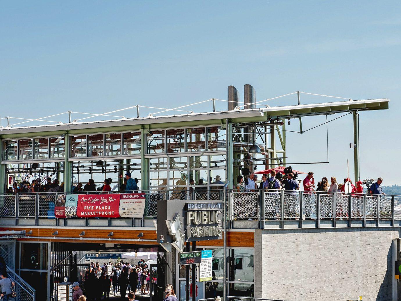 Trip Ideas sky outdoor City building boardwalk water facade