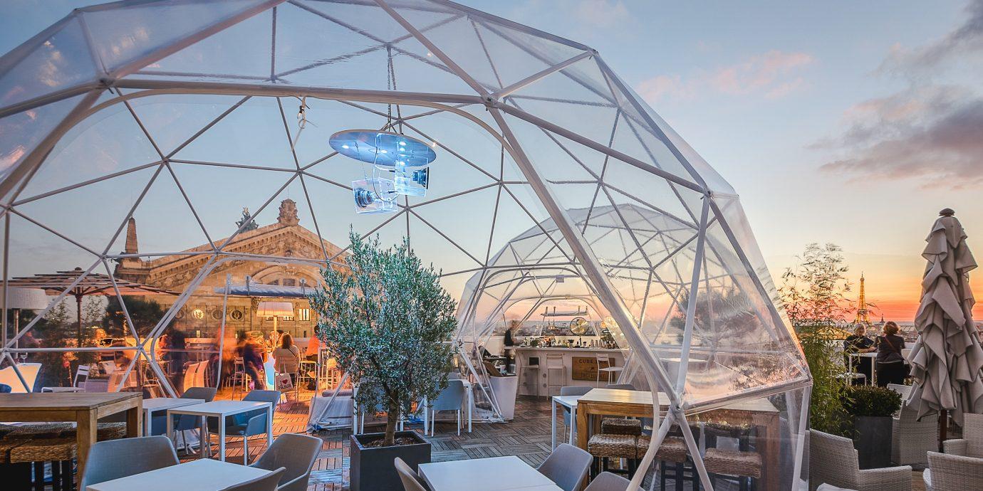 Food + Drink Paris Trip Ideas sky building outdoor dome structure tourist attraction roof outdoor structure City recreation amusement park day