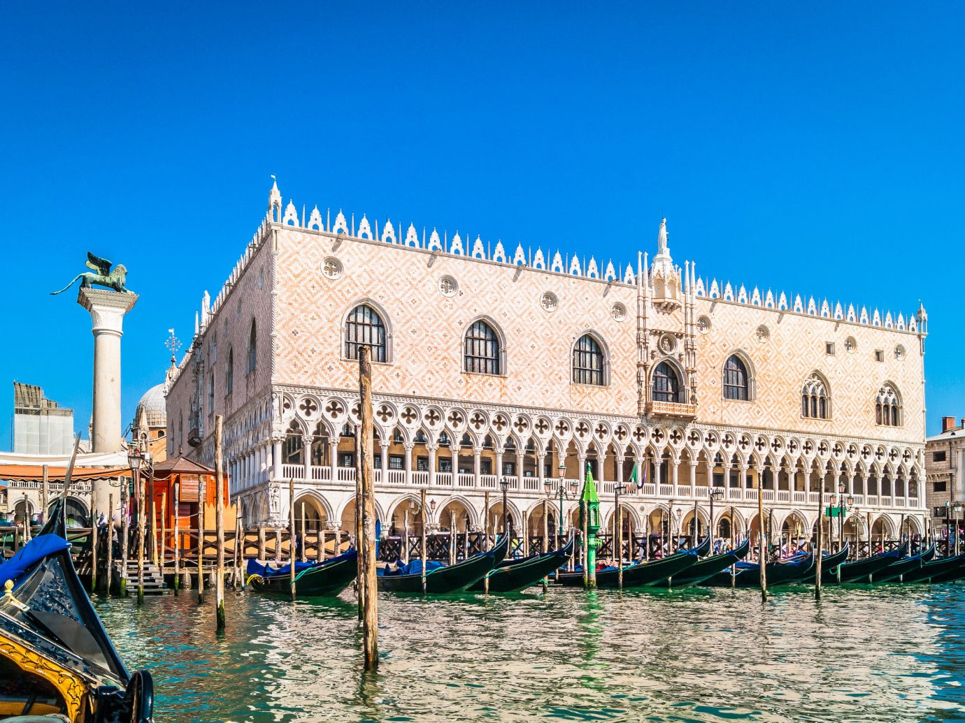 Trip Ideas building sky outdoor water waterway landmark palace gondola tourist attraction watercraft tourism City Boat Sea facade Canal channel Harbor old stone