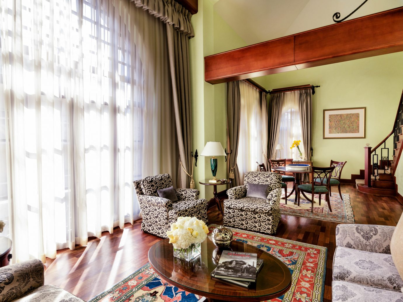 Boutique Hotels Hotels Luxury Travel indoor wall Living room living room interior design window home Suite dining room real estate furniture decorated estate window treatment table