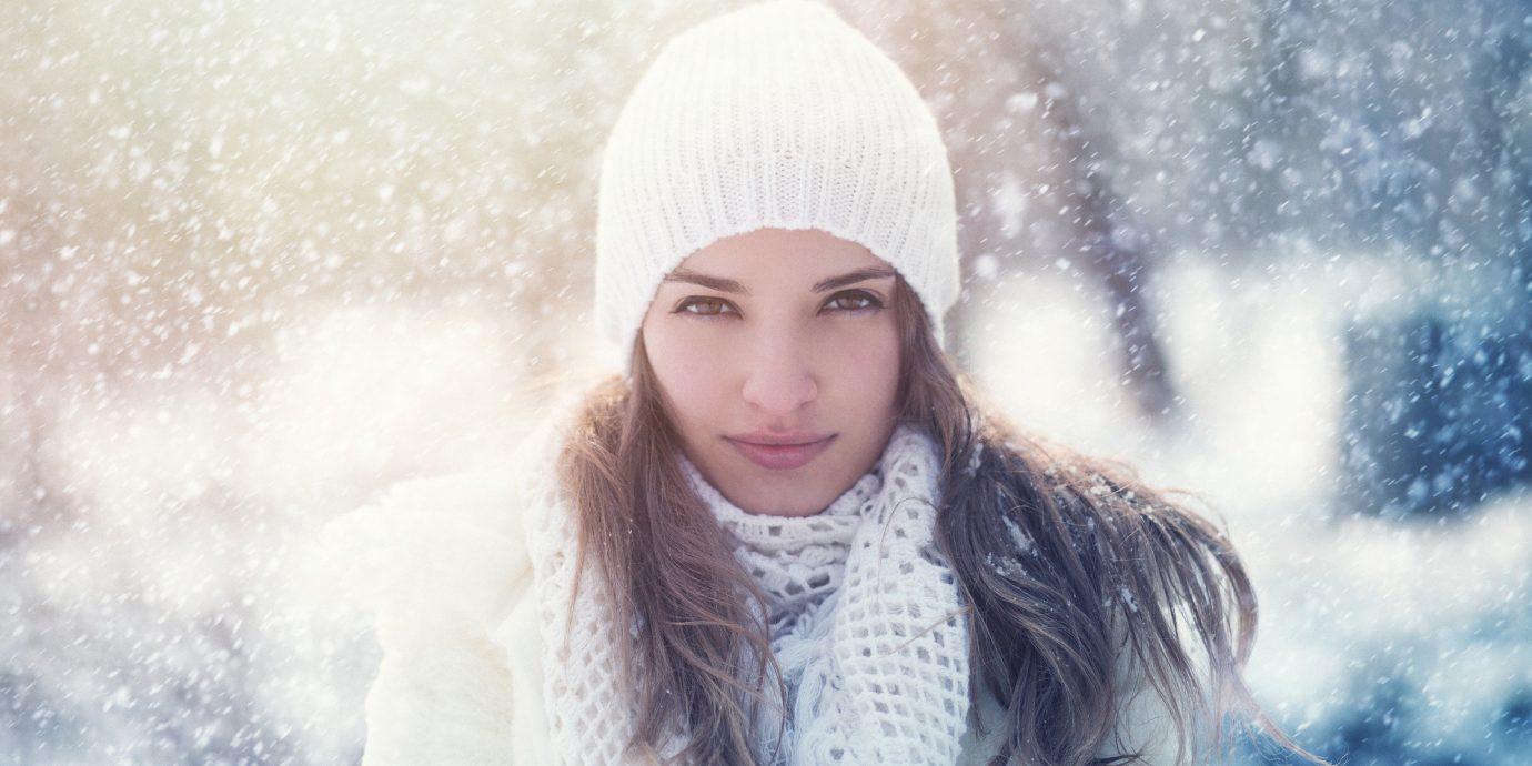 Wellness outdoor person Winter clothing blue weather snow Beauty season fashion spring portrait photography portrait cap model photo shoot