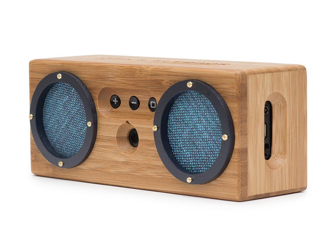 Gift Guides Travel Shop Travel Tech sound box wooden indoor audio equipment audio computer speaker wood loudspeaker electronic instrument product design technology radio sound speaker product subwoofer