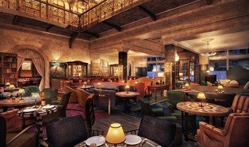 Hotels indoor ceiling room property window estate restaurant Resort tavern cottage Bar furniture area several cluttered