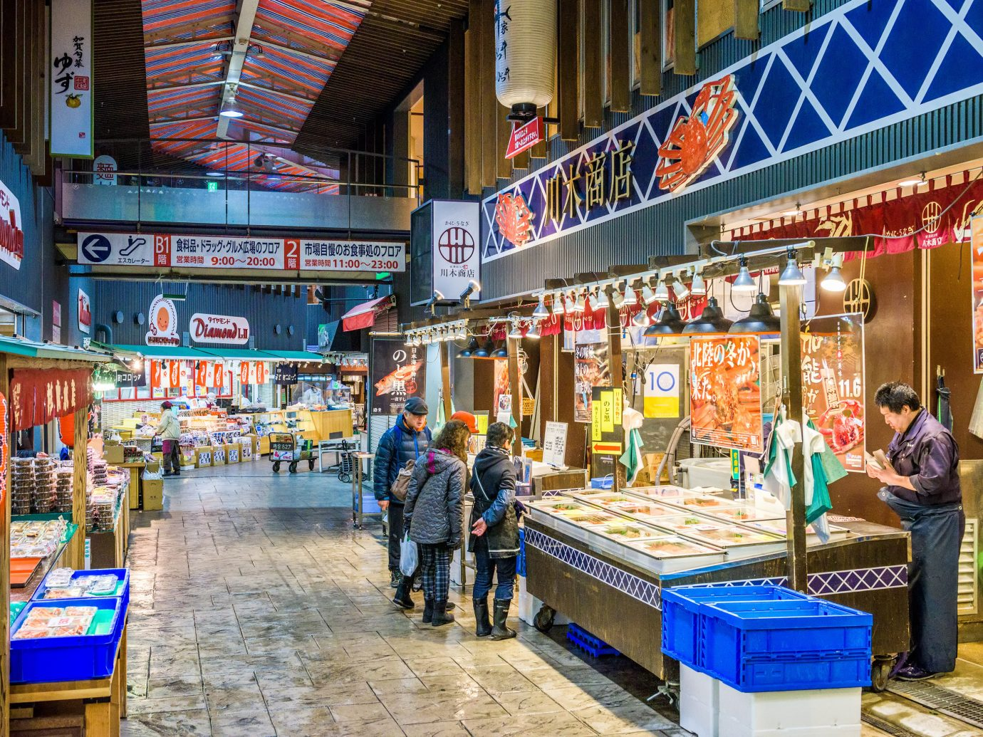 Japan Trip Ideas marketplace market public space bazaar retail City stall shopping grocery store supermarket vendor grocer street convenience store produce