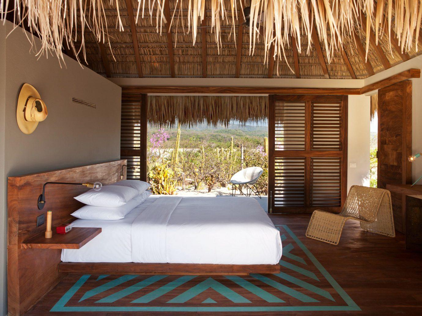 Bedroom at Hotel Escondido, Puerto Escondido, Mexico