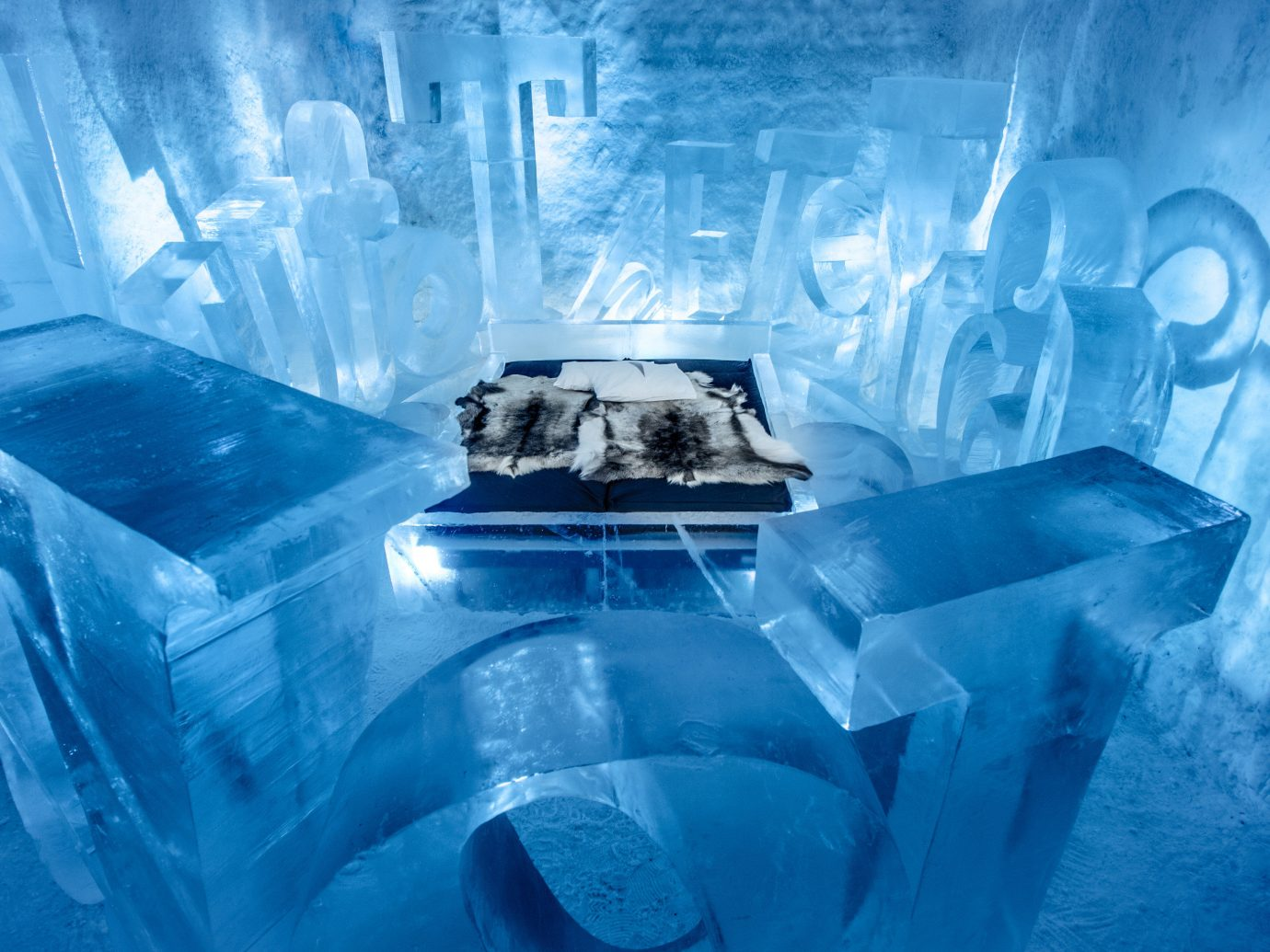 Winter blue ice hotel ice arctic freezing water computer wallpaper melting glacial landform ice cave dirty trash