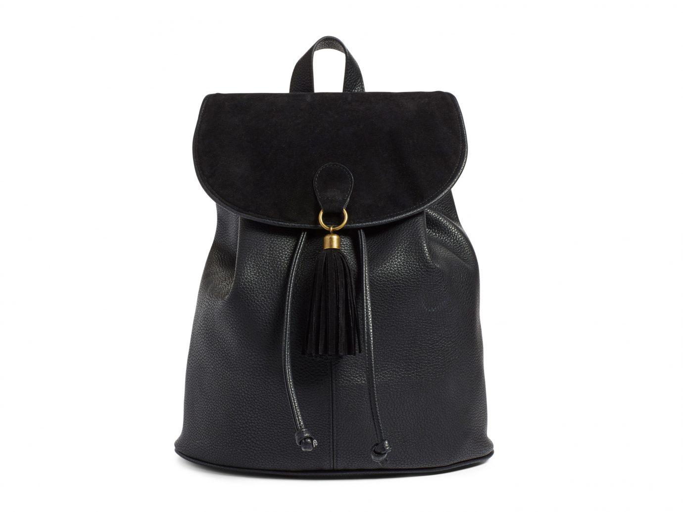 Style + Design black bag indoor handbag backpack accessory product leather shoulder bag textile