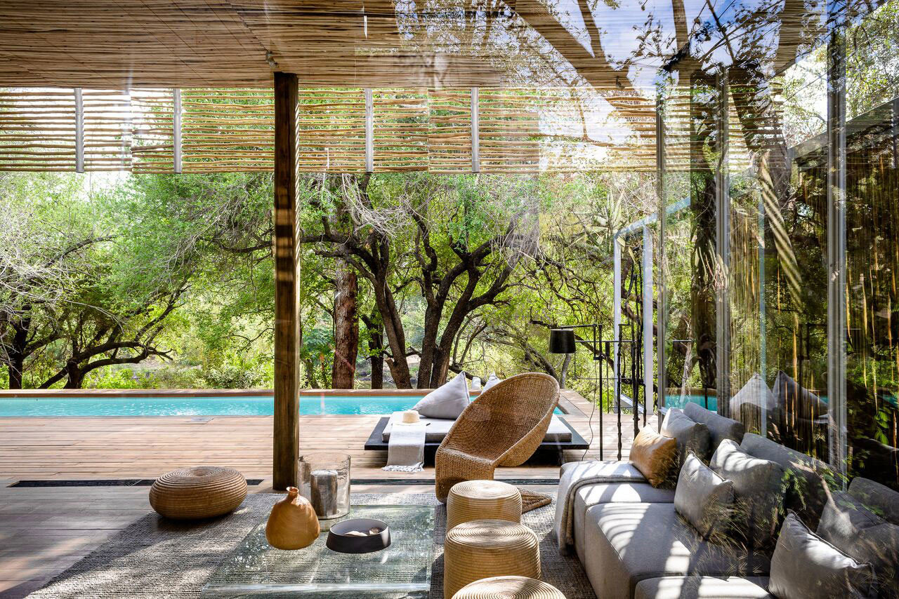 Luxury Travel Outdoors + Adventure Safaris Trip Ideas tree outdoor estate house backyard home Resort vacation Garden Courtyard yard interior design furniture