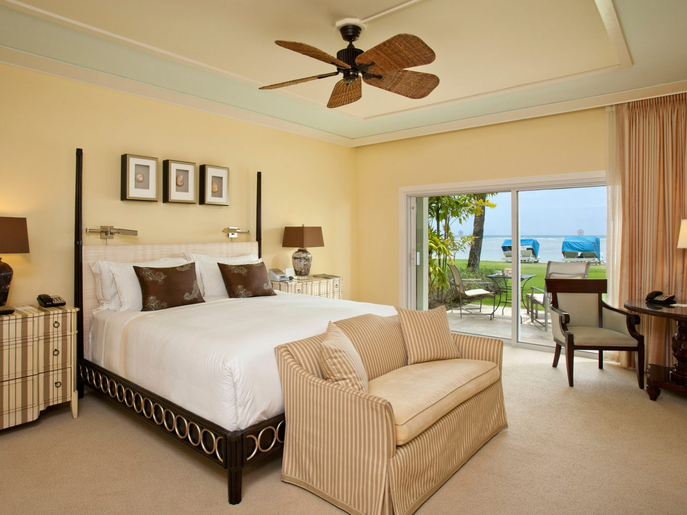 Beach Beachfront Bedroom Boutique Hotels Family Hawaii Honolulu Hotels Island Resort Romantic floor indoor wall room sofa ceiling Living bed property estate hotel furniture home real estate Suite cottage living room interior design Villa apartment decorated area