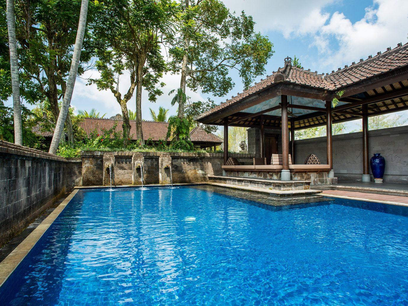Hotels Luxury Pool Villa building tree outdoor water swimming pool property Resort leisure estate house swimming blue resort town mansion real estate backyard stone