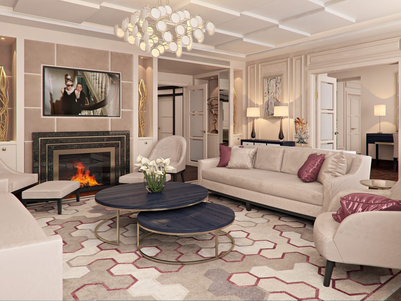 Architecture Fall Travel Hotels Luxury Travel News Trip Ideas Living indoor living room room floor sofa interior design window furniture ceiling home Suite Fireplace Lobby couch flooring estate interior designer real estate decorated table Bedroom area