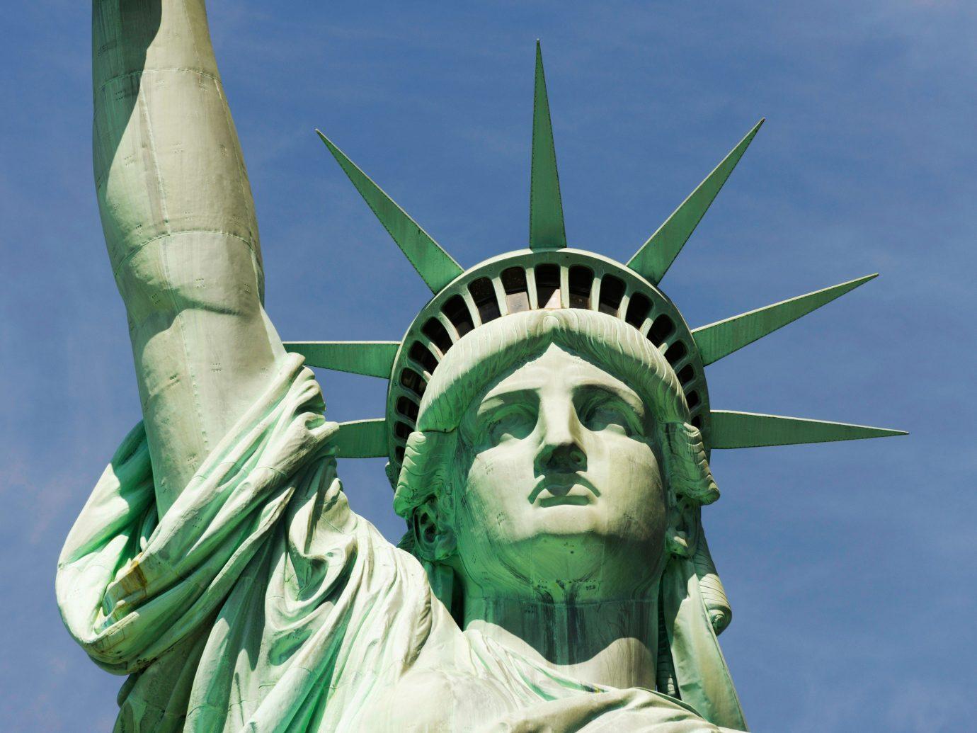 Offbeat statue green sculpture monument art