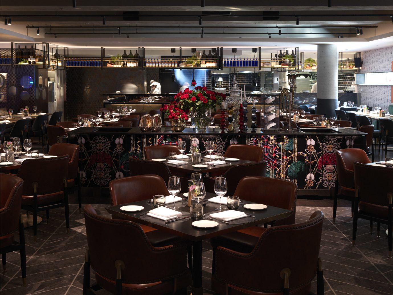 Australia Hotels Melbourne indoor table room floor ceiling chair restaurant meal interior design Bar area several
