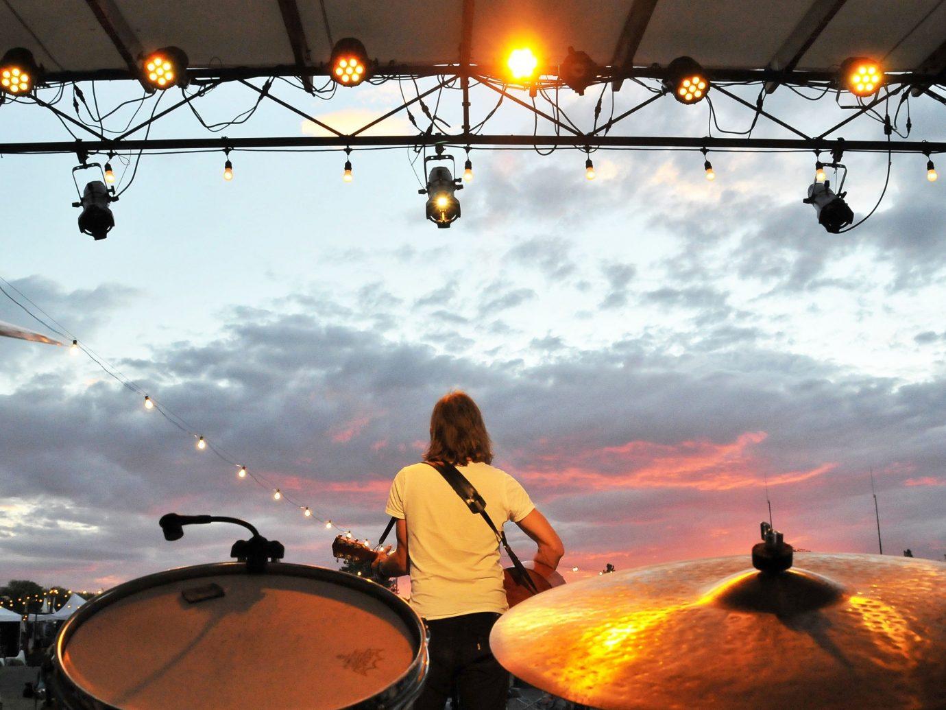 Arts + Culture sky outdoor light traffic drums drum drummer evening morning musician skin head percussion instrument sunlight