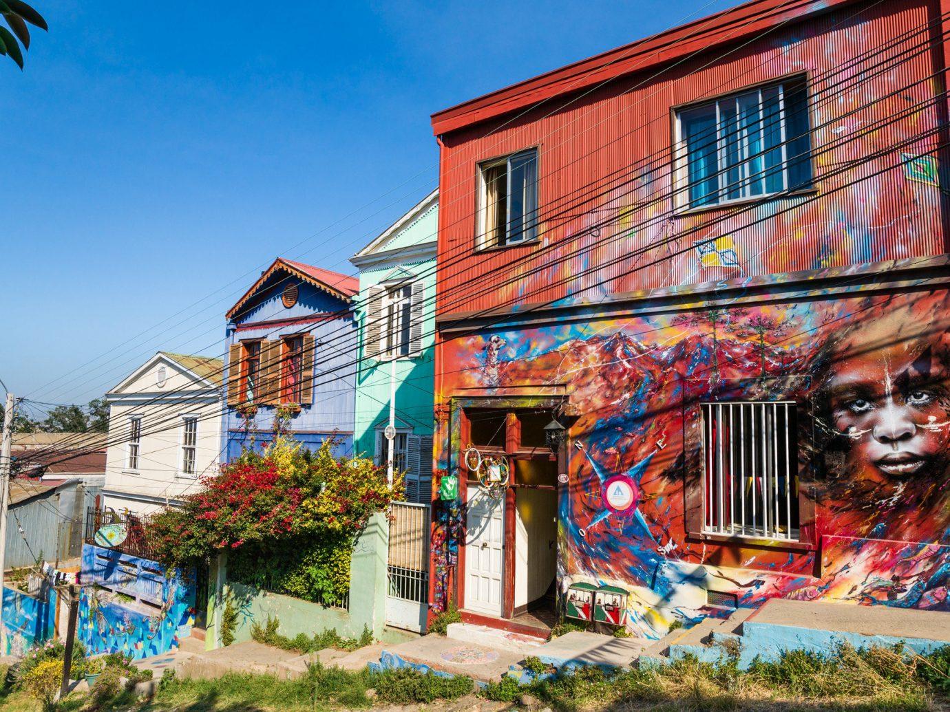 Trip Ideas building outdoor color Town neighbourhood urban area house art mural Village colorful