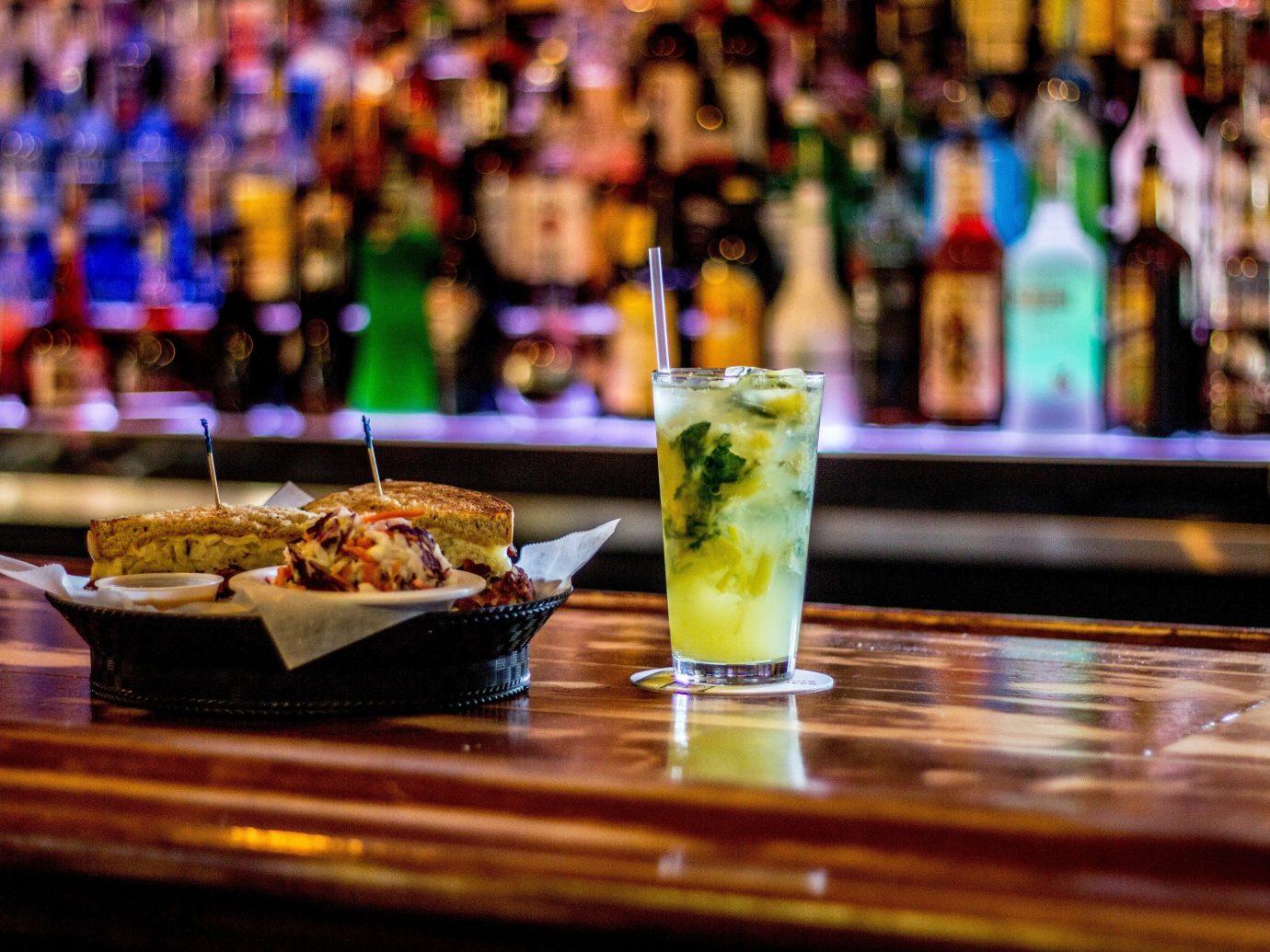 Beach table indoor Bar meal restaurant Drink sense counter