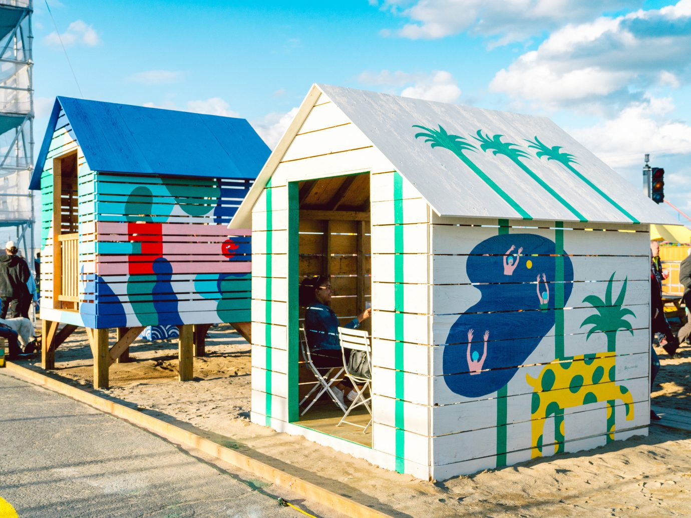 Trip Ideas outdoor sky public space Playground house recreation City shed