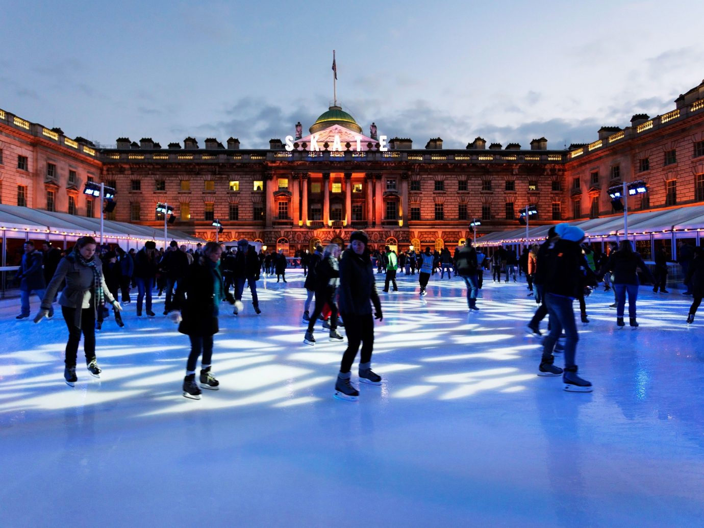 Trip Ideas sky building outdoor rink leisure ice rink plaza Ice Skating outdoor recreation skating group town square palace Resort square
