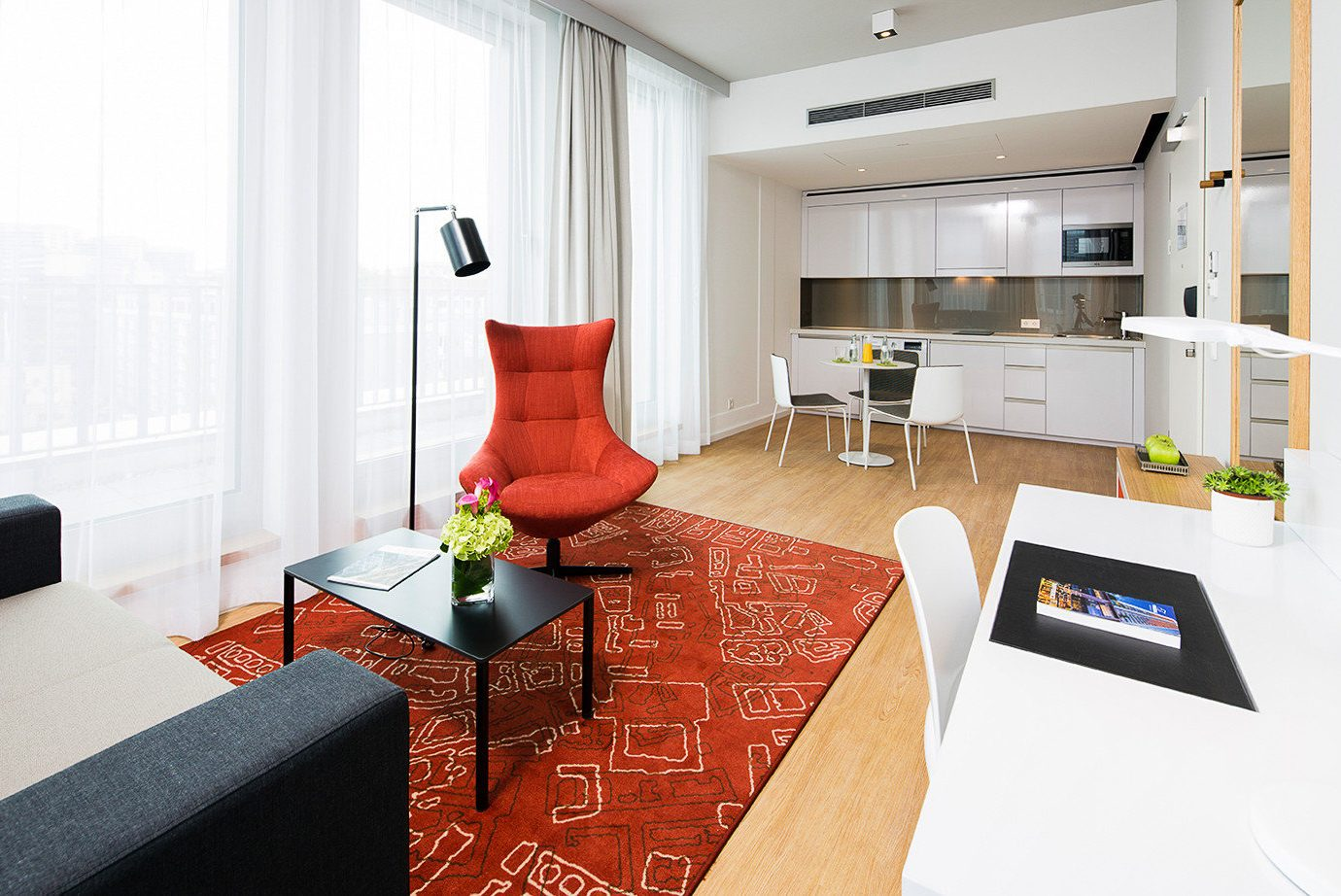 Trip Ideas indoor floor wall window room Living interior design red living room product real estate product design interior designer apartment flooring furniture