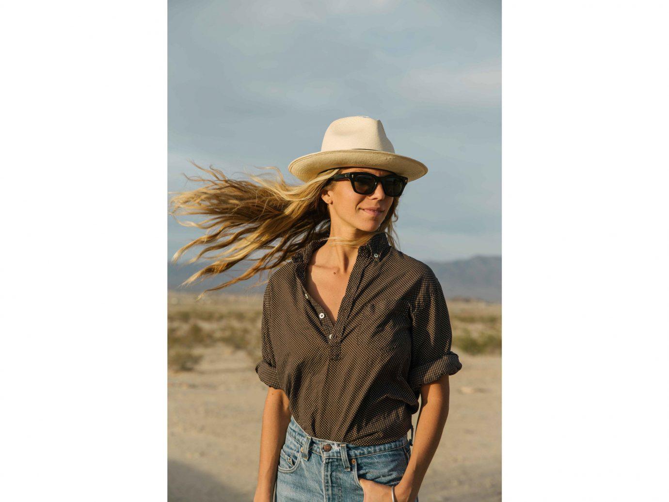 City Influencers + Tastemakers Joshua Tree person outdoor hat headgear outerwear fedora neck