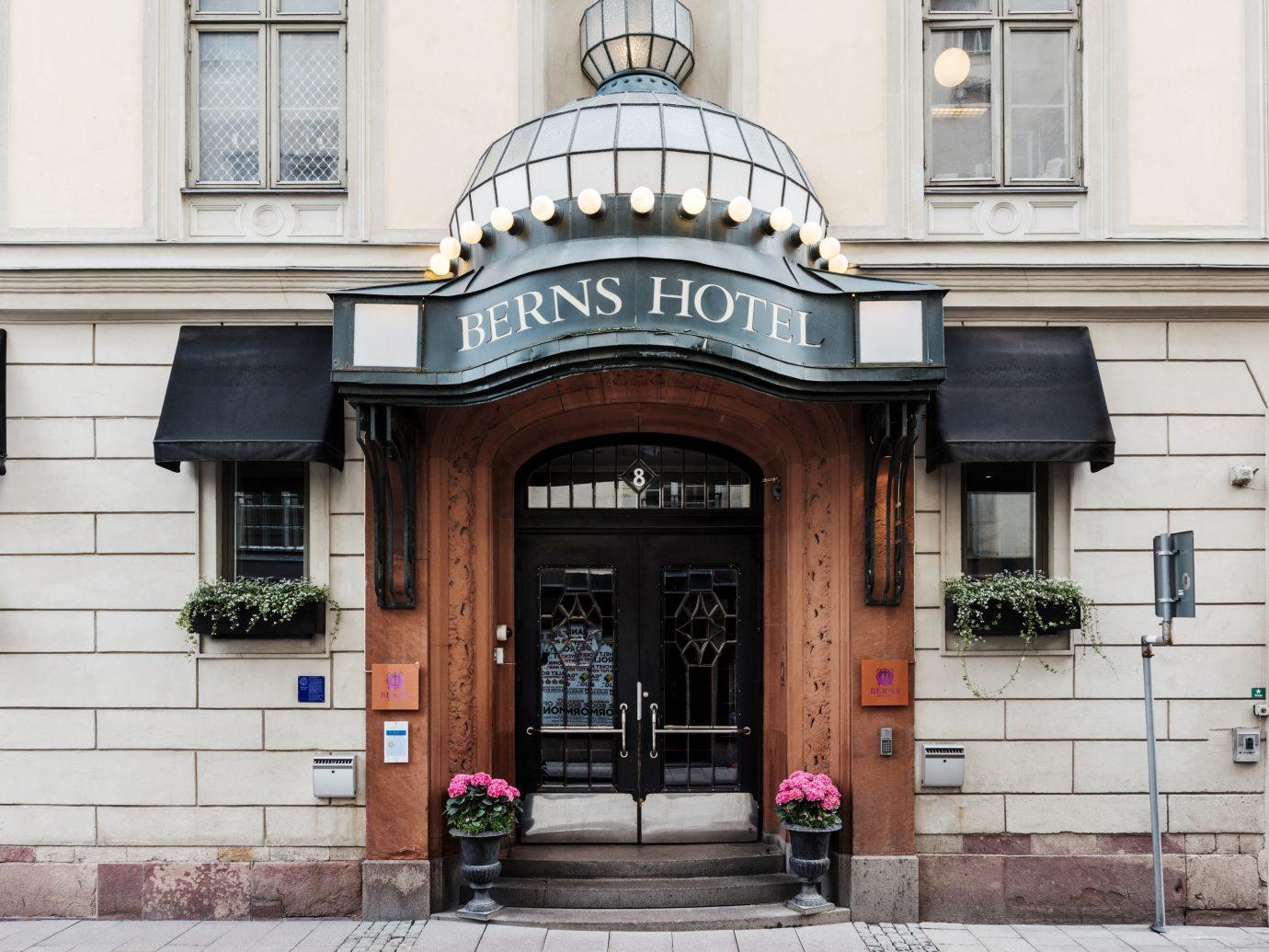 Hotels Stockholm Sweden building outdoor Architecture iron facade door City window house arch