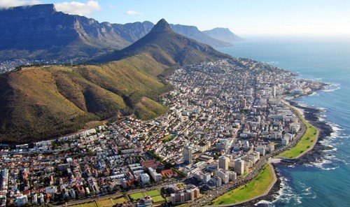 Trip Ideas mountain sky outdoor water Nature geographical feature Town photography aerial photography Coast tourism bird's eye view cape bay panorama terrain hillside