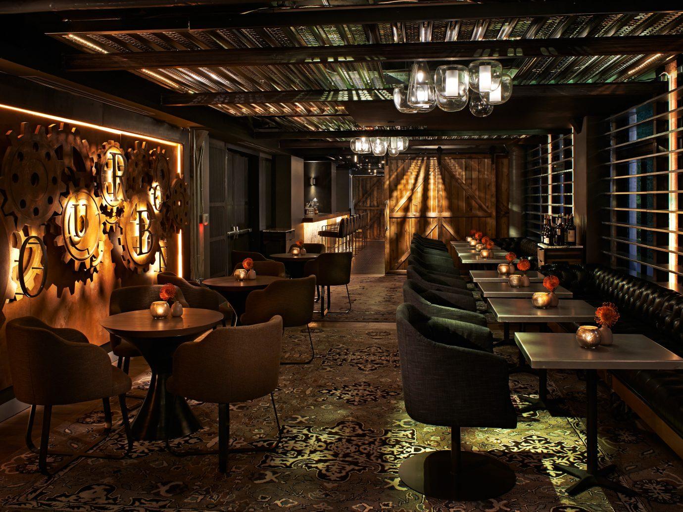 Bar Beach Boutique Dining Drink Eat indoor floor room ceiling lighting interior design restaurant Lobby furniture several