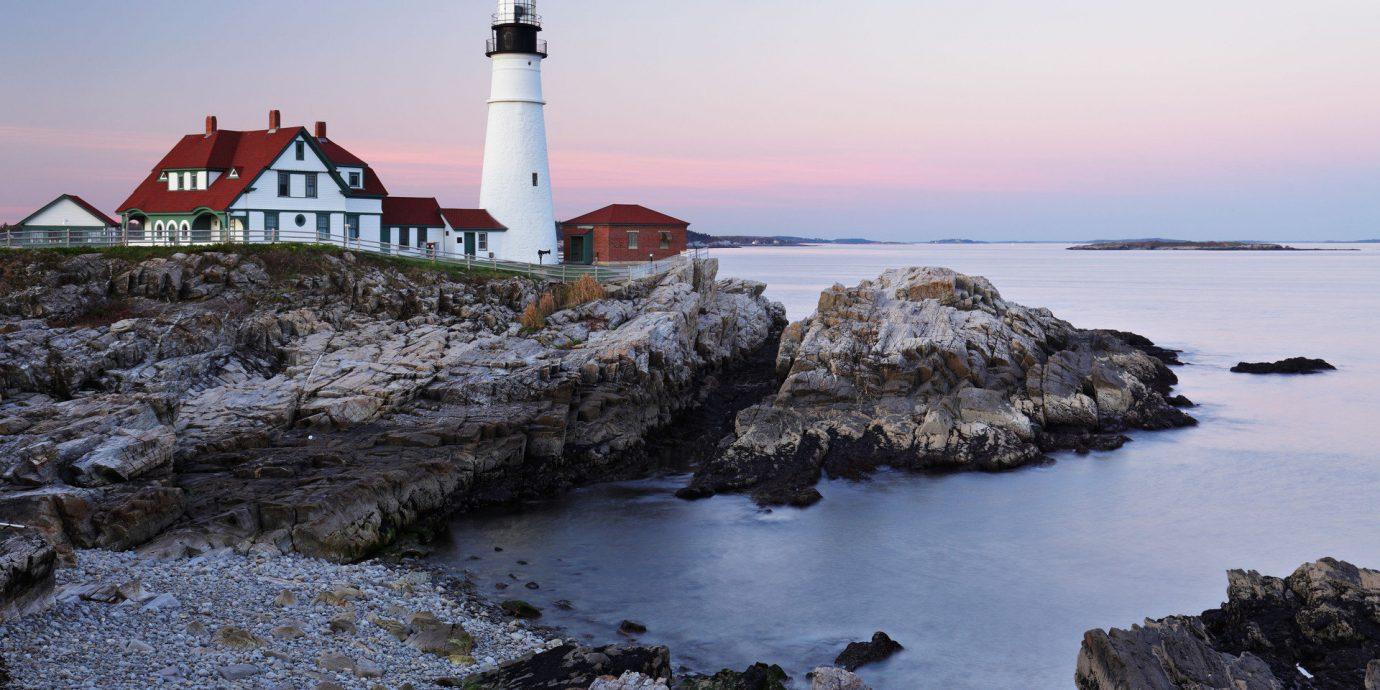 Trip Ideas outdoor sky water rock lighthouse tower Sea Coast shore rocky Ocean house Nature cove cape bay Beach promontory Island
