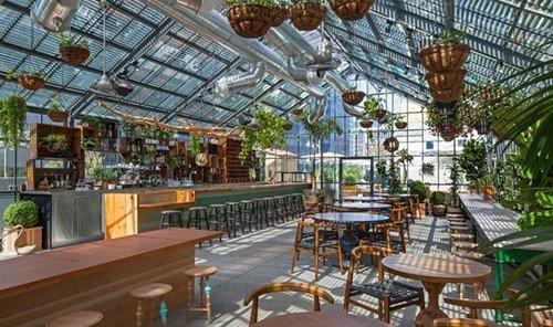 Food + Drink table Resort building plaza restaurant real estate eco hotel estate several